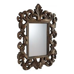 Rustic Gold 44.75 x 30.5 Verona Rectangular Foam Frame Mirror
