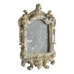 Rustic 19 x 12.5 Adelina Arched Other Natural Materials Frame Mirror