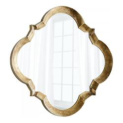 Bronze 59.5 x 59.4 Parnel Specialty Iron and Wood Mirror