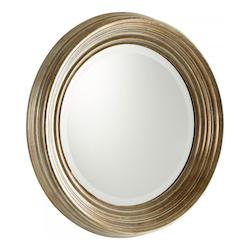 Silver 7 Inch Diameter Marcy Wood Mirror