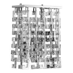 Chrome Athropolis 2 Light Wall Sconce with Silver Shade