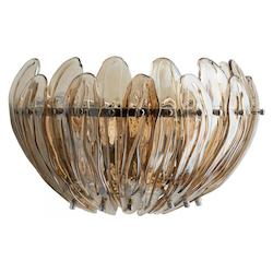 Chrome Aerie 3 Light Wall Sconce with Clear Shade