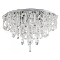 Chrome Centaurus 3 Light Flush Mount Ceiling Fixture with Glass Shade