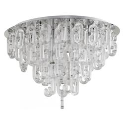Chrome Centaurus 4 Light Flush Mount Ceiling Fixture with Glass Shade