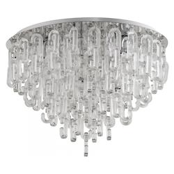 Chrome Centaurus 6 Light Flush Mount Ceiling Fixture with Glass Shade