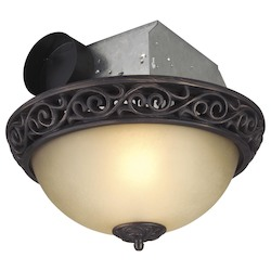 Decorative Scroll Flushmount Style Vent-Light 70 Cfm - Oil Rubbed Bronze