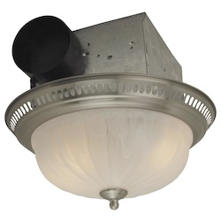 Decorative Flushmount Style Vent-Light 70 Cfm - Stainless Steel