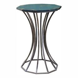 Vika Navy Blue Accent Table