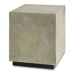 Polished Concrete / Satin Black Goodstone Squared Occasional Table