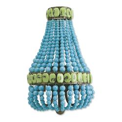 Cupertino / Turquoise / Jade Lana 2 Light Wall Sconce Turquoise