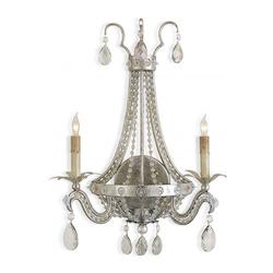 Silver Leaf Chartres Wall Sconce with Customizable Shades