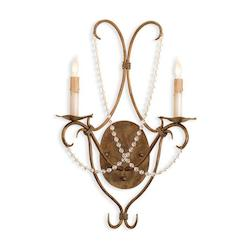 Rhine Gold Crystal Lights Wall Sconce with Customizable Shades