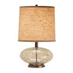 Alexis 1 Light Table Lamp with Off White Shantung Shade