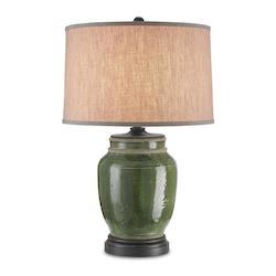 Green Carver 1 Light Accent Table Lamp