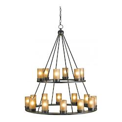 Old Iron Darden 18 Light Chandelier in Old Iron Finish with Customizable Shades