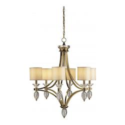 Sebastian 6 Light Chandelier in Coffee Bronze / Clear Crystal Finish