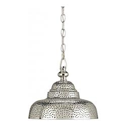 Nickel Lowell 1 Light Brass Mini Pendant