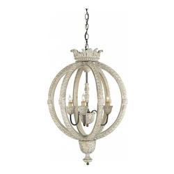 3 Light Wrought Iron Small Dauphin Chandelier with Customizable Shades