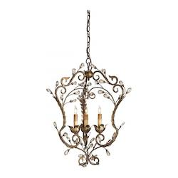 Cupertino/Gold Leaf Melody Chandelier with Customizable Shades