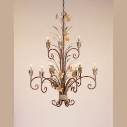 Black Iron Catesby 20 Light Candle Style Chandelier