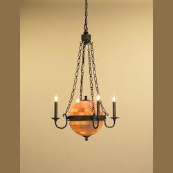 Bel Air Black Beaumont 4 Light Full Sized Pendant