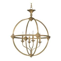 Antique Brass Bellario Orb 4 Light Candle Style Chandelier