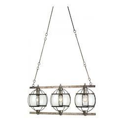 Dirty Silver Broxton 3 Light 1 Tier Chandelier