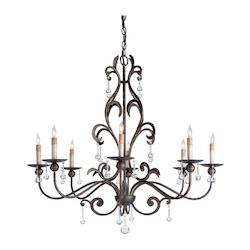 Cupertino Pompeii Chandelier with Customizable Shades