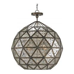 Pyrite Bronze Buckminster 6 Light Globe Pendant