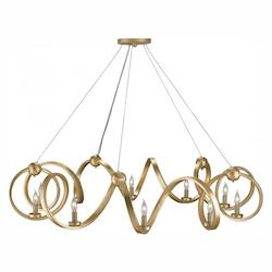 Contemporary Gold Leaf Ringmaster 10 Light 0