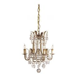 Rhine Gold Laureate Chandelier Small