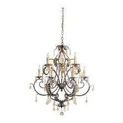 Venetian/Gold Leaf Heirloom Chandelier Small with Customizable Shades