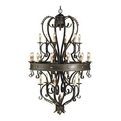 Bronze Verdigris/Gold Leaf Colossus Chandelier