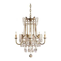 Rhine Gold Laureate Chandelier Large with Customizable Shades