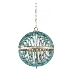 Cupertino / Turquoise Alberto Orb 5 Light Chandelier