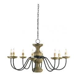 Mole Black / Natural Treesmill 8 Light Chandelier