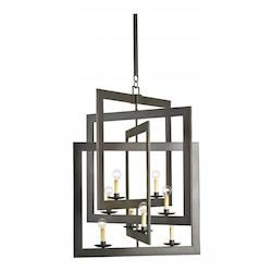 Bronze Gold Middleton 8 Light Single Tier Chandelier