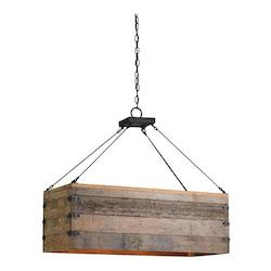 Blacksmith / Natural Billycart 3 Light Chandelier