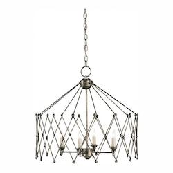 Pyrite Bronze Accordion 4 Light Chandelier