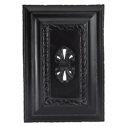 Hand Carved Rectangle -;Wireless Chime