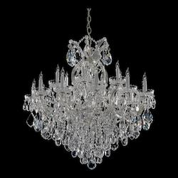 Crystorama Maria Theresa 19 Light Clear Italian Crystal Chrome Chandelier