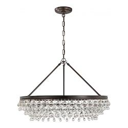 Crystorama Calypso 6 Light Crystal Teardrop Chrome Chandelier