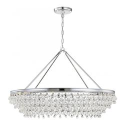 Crystorama Calypso 8 Light Crystal Teardrop Chrome Chandelier