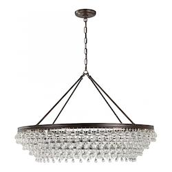 Crystorama Calypso 8 Light Crystal Teardrop Vibrant Bronze Chandelier