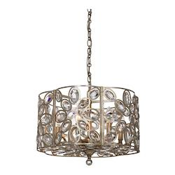 Crystorama Sterling 6 Light Distressed Twilight Chandelier