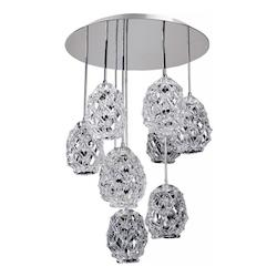 Veronese 25.5In. Round Convertible/Round Pendant Or Flush Mount