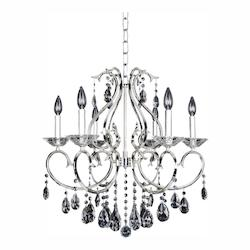 Cesti 6 Light Chandelier W/Silver