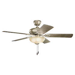 52In. Sutter Place Select Ceiling Fan In Sterling Gold