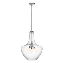 Chrome Everly 3 Light Pendant