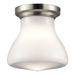 Brushed Nickel Signature 1 Light Flush Mount Ceiling Fixture